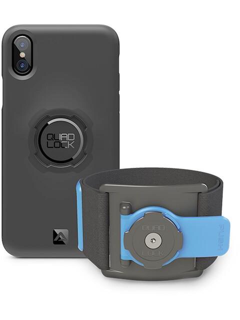 Quad Lock Run Kit For iPhone X blue/black